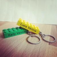 Sleutelhanger XL, genoeg ruimte voor een lange naam! #sleutelhangerXL #legoxl