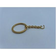 Sleutelhanger ketting met ring Goud