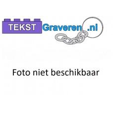 Sleutelhanger legoblok 2x4 Zwart - Graveren en naam ingekleurd