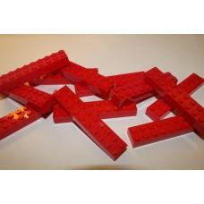 Legoblok 2x10 Rood - Graveren en tekst ingekleurd