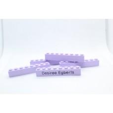 Legoblok 1x8 Paars (licht) - Graveren en tekst ingekleurd