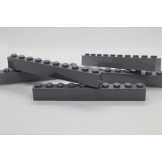 Legoblok 1x10 Grijs (donker) - Graveren en tekst ingekleurd