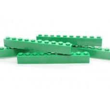 Legoblok 1x10 Groen (donker) - Graveren en tekst ingekleurd