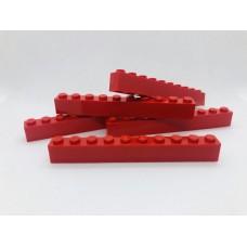 Legoblok 1x10 Rood - Graveren en tekst ingekleurd