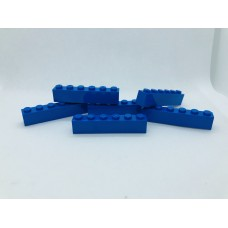 Legoblok 1x6 Blauw - Graveren en tekst ingekleurd