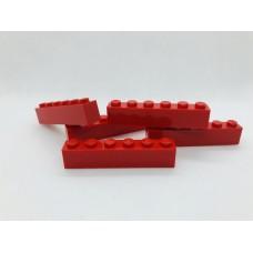 Legoblok 1x6 Rood - Graveren en tekst ingekleurd