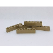 Legoblok 1x6 Taupe - Graveren en tekst ingekleurd