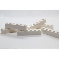 Legoblok 1x6 Wit - Graveren en tekst ingekleurd