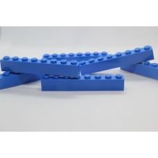 Legoblok 1x8 Blauw (donker) - Graveren en tekst ingekleurd