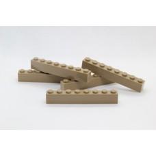 Legoblok 1x8 Taupe - Graveren en tekst ingekleurd