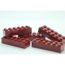 Legoblok 2x6 Bordeauxrood - Graveren en tekst ingekleurd