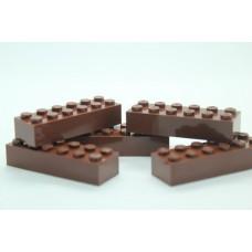 Legoblok 2x6 Bruin - Graveren en tekst ingekleurd