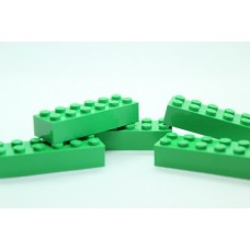 Legoblok 2x6 Groen - Graveren en tekst ingekleurd