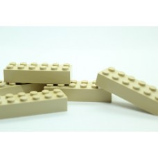 Legoblok 2x6 Zand - Graveren en tekst ingekleurd