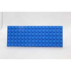 Sleutelrek legoplaat 6x16 Blauw (donker)