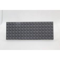 Sleutelrek legoplaat 6x16 Grijs