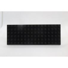 Sleutelrek legoplaat 6x16 Zwart