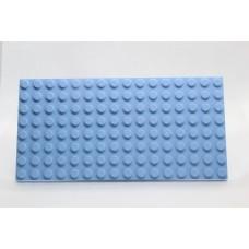 Sleutelrek legoplaat 8x16 Blauw (licht)