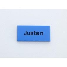 Legotegel 2x4 Blauw - Graveren en tekst ingekleurd
