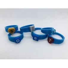 Ring 1x1 Blauw (3D print)