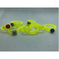 Ring 1x1 Neon Geel (3D print)