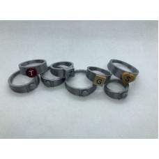 Ring 1x1 Zilver (3D print)