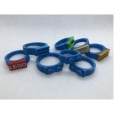 Ring 1x2 Blauw (3D print)