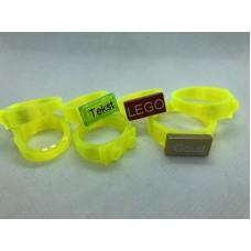 Ring 1x2 Neon Geel (3D print)