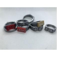 Ring 1x2 Zilver (3D print)