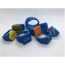Ring 4x4 Blauw (3D print)