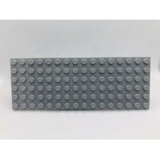 Sleutelrek legoplaat 6x16 Grijs (licht)