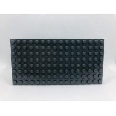Sleutelrek legoplaat 8x16 Grijs (donker)