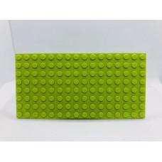 Sleutelrek legoplaat 8x16 Groen (licht)