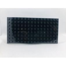 Sleutelrek legoplaat 8x16 Zwart