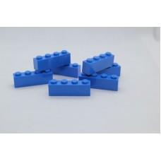 Legoblok 1x4 Blauw - Graveren en tekst ingekleurd
