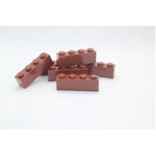 Legoblok 1x4 Bruin - Graveren en tekst ingekleurd