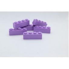 Legoblok 1x4 Paars - Graveren en tekst ingekleurd