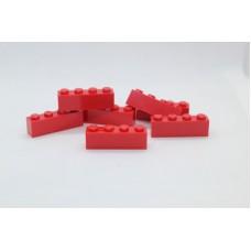 Legoblok 1x4 Rood - Graveren en tekst ingekleurd