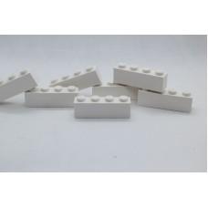 Legoblok 1x4 Wit - Graveren en tekst ingekleurd