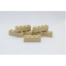 Legoblok 1x4 Zand - Graveren en tekst ingekleurd