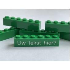 Legoblok 1x6 Groen - Graveren en tekst ingekleurd