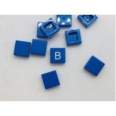 Legotegel 1x1 Blauw - Graveren en tekst ingekleurd