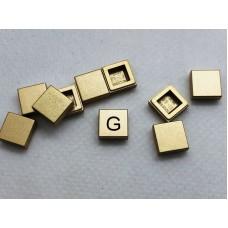 Legotegel 1x1 Goud - Graveren en tekst ingekleurd