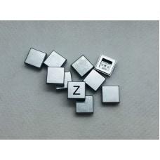 Legotegel 1x1 Zilver - Graveren en tekst ingekleurd