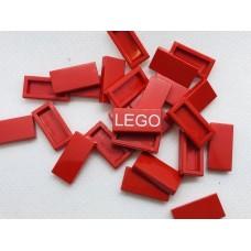 Legotegel 1x2 Rood - Graveren en tekst ingekleurd