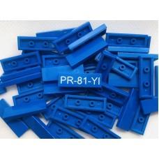 Legotegel 1x3 Blauw - Graveren en tekst ingekleurd