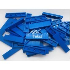 Legotegel 1x4 Blauw - Graveren en tekst ingekleurd