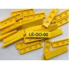 Legotegel 1x4 Geel - Graveren en tekst ingekleurd