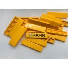 Legotegel 1x4 Oranje Geel - Graveren en tekst ingekleurd