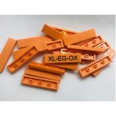 Legotegel 1x4 Oranje - Graveren en tekst ingekleurd